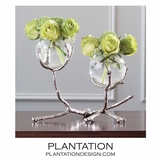 Branches Double Vase | Nickel