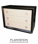 Brayden 3-Drawer Dresser, Stained w/Fabric Fronts