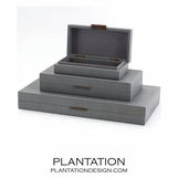 Brentwood Leather Boxes | Slate