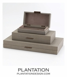 Brentwood Leather Boxes | Taupe