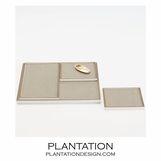 Brentwood Leather Inset Trays | Taupe