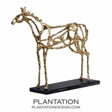Caballus Horse Sculpture in Gold