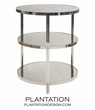 Caprice Side Table | Nickel