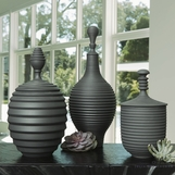 Carina Lidded Jars | Black