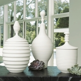 Carina Lidded Jars | White