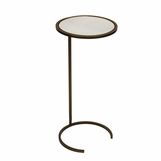 Carlo Round Drink Table | Bronze