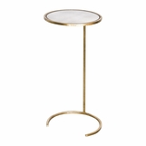 Carlo Round Drink Table | Gold