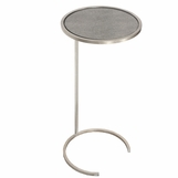 Carlo Round Drink Table | Silver