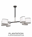 Carlton Chandelier | Aged Nickel