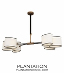 Carlton Chandelier | Antique Brass