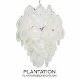 Cascada Glass Chandelier | Snow