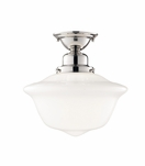 Charles Medium Flush Mount | Polished Nickel