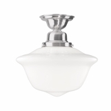 Charles Medium Flush Mount | Satin Nickel