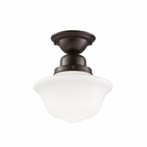 Charles Small Flush Mount | Bronze