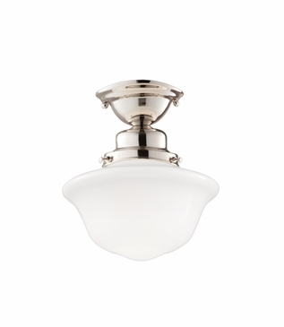 Charles Small Flush Mount | Polished Nickel