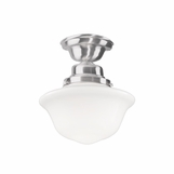 Charles Small Flush Mount | Satin Nickel