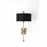 Charlotte Brass Sconce | Black Shade