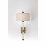 Charlotte Brass Sconce | White Shade