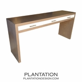 Clayton Console Table, Stained w/Painted Drawers