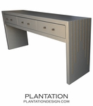 Clayton Console Table, Upholstered