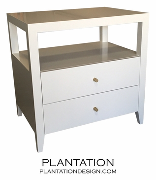 Cohen 2-Drawer Side Table, Painted