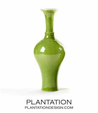 Colorful Collared Vase | Apple Green