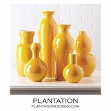 Colorful Porcelain Vases Set | Yellow