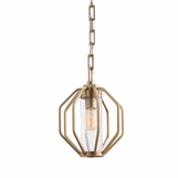Coppo Caged Pendant | Brass