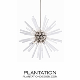 Cosmic Glass Chandelier | Nickel