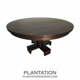 Croft Round Dining Table, Macassar