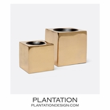 Cubismo Votives Set | Brass