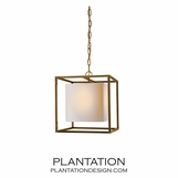 Cubist Small Pendant | Antique Brass