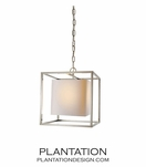 Cubist Small Pendant | Polished Nickel