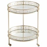 Cynthia Aged Silver Bar Cart
