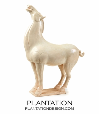 Cyril Horse Statue | White