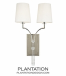 Dahl Double Sconce | Polished Nickel
