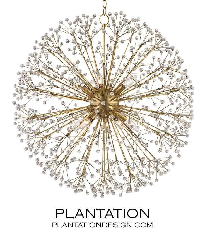 Dandelion Chandelier Antique Brass Plantation