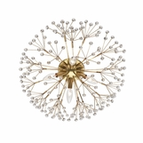 Dandelion Flush Mount | Antique Brass