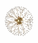 Dandelion Wall Sconce | Antique Brass