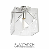 Demille Petite Flush Mount | Nickel