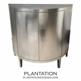 Demilune Cabinet | Silver Leaf