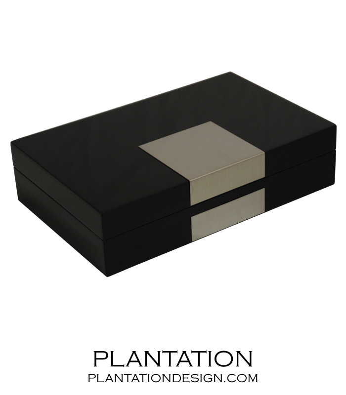 Denver Jewelry Box Black Plantation Design