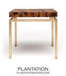 Depp Gold Table | Brown Shell