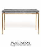 "Depp ""Shagreen"" Gold Consoles 