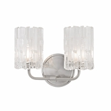 Dina 2-Light Sconce | Satin Nickel