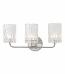 Dina 3-Light Vanity Fixture | Satin Nickel