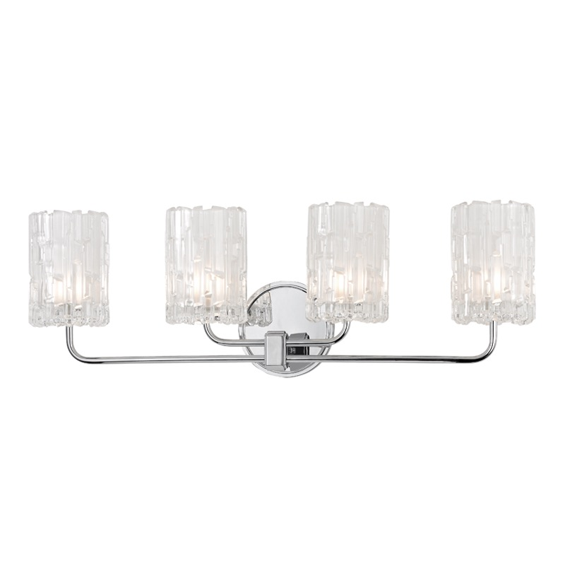 Dina 4-Light Vanity Fixture | Polished Chrome | PLANTATION