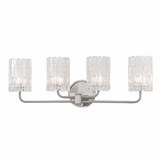 Dina 4-Light Vanity Fixture | Satin Nickel