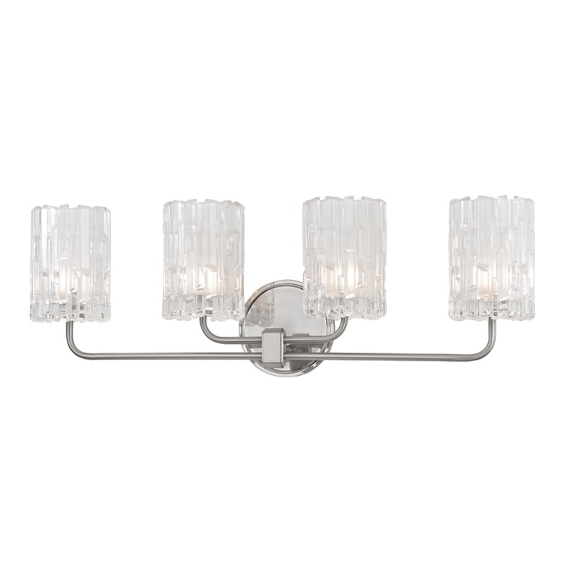 Dina 4-Light Vanity Fixture | Satin Nickel | PLANTATION