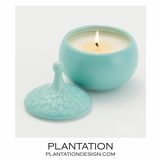 Driblet Lidded Candle | Teal